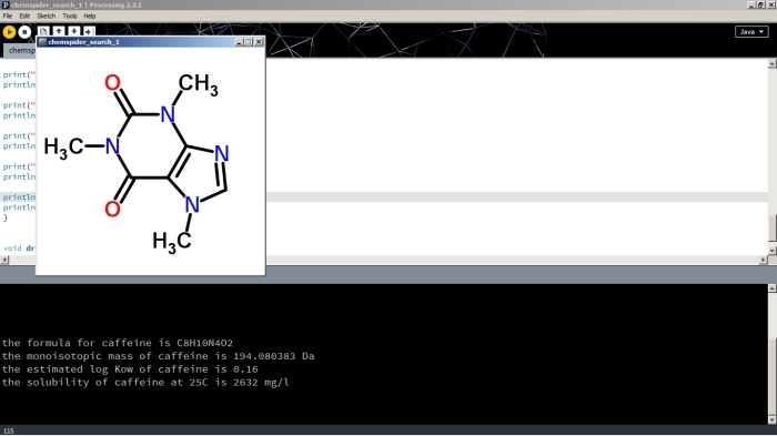 Processing ChemSpider sketch output